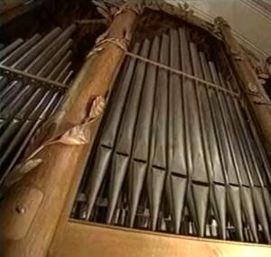 Dettaglio organo Abbazia Novalesa Torino